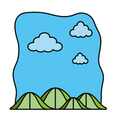 Color ecology mountains nature preserve landscape vector