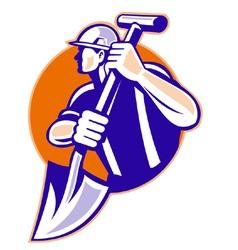 Construction worker symbol vector