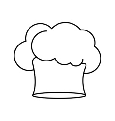 Contour of chefs hat in irregular shape vector