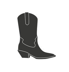 cowboy boots icon isolated on white background vector image