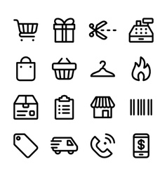 crisp marketplace icons vector image