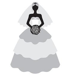 Cute bride vector