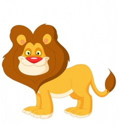 cute lion vector image