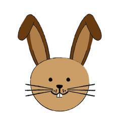 Cute rabbit or bunny icon image vector