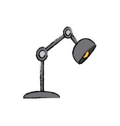 Desk lamp light electric bulb decoration vector