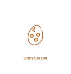 Dinosaur egg concept 2 colored icon simple line vector