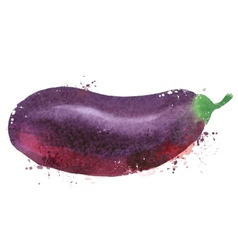 Eggplant logo design template vegetables vector image