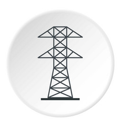electric power station icon circle vector image