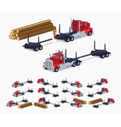 Empty log truck vector image