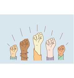 equal rights and stop racism concept vector image