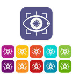 eye icons set flat vector image