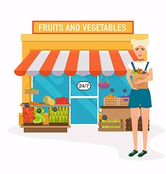 Farmers market flat vector vector image