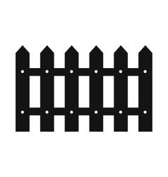 Fence black simple icon vector