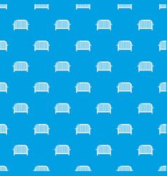 fence speech pattern seamless blue vector image