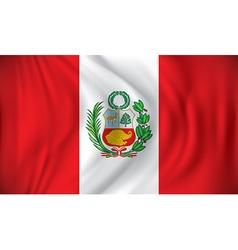Flag of Peru vector image vector image
