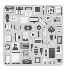 flat icons smartphone set vector image