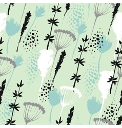 Floral pattern in hand drawn style with vector