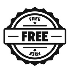 Free logo simple style vector