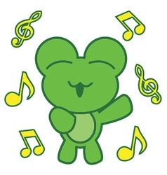 Frog Singing vector image