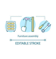 Furniture assembly concept icon service for home vector