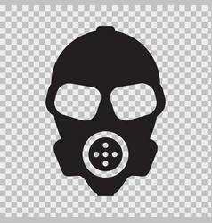 gas mask with flat and solid color style vector image