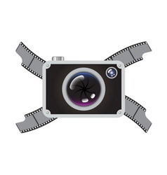 Hipster Retro Photo Camera vector image