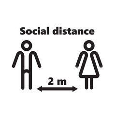 keep distance social vector image