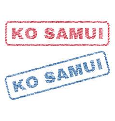 ko samui textile stamps vector image