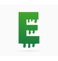 Letter E logo or symbol icon vector image