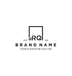 Letter rq square logo finance design vector