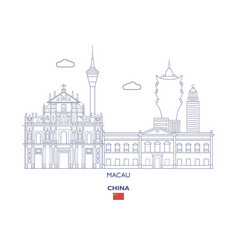 Macau city skyline vector