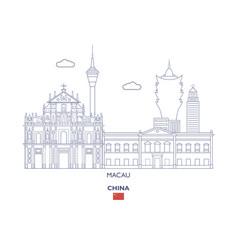 macau city skyline vector image