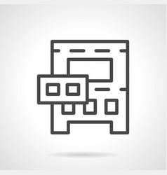 Medical autoclave simple black line icon vector