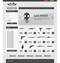 Military website template vector