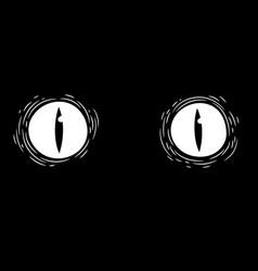 Monster eyes on black background vector
