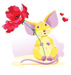Mouse bright vector
