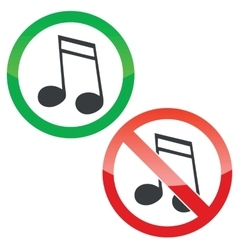 Music permission signs set 2 vector