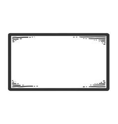 Nameplate sketch scratch board imitation black vector