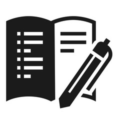open office book icon simple style vector image