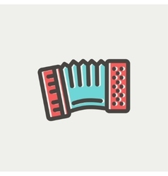 Organ thin line icon vector