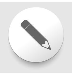 Pencil icon flat design vector