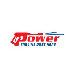 Power cleaner logo design vector