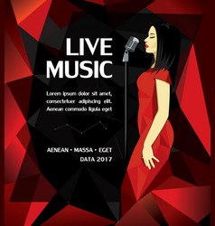 Promotional musical performance poster vector