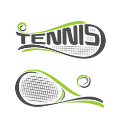 Rackets of lawn tennis vector