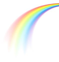 Rainbow comet vector
