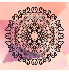 Round mandala Geometric circle element made in vector