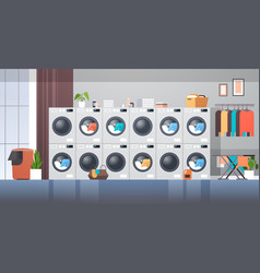 Row dryers industrial washing machines electric vector
