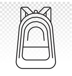 Schoolbag school bag backpack with straps flat vector