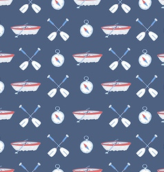 Seamless pattern with water sport equipment vector image vector image