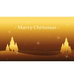 Silhouette of tree christmas landscape vector